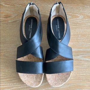 Adrienne Vittadini Black Strappy Sandals